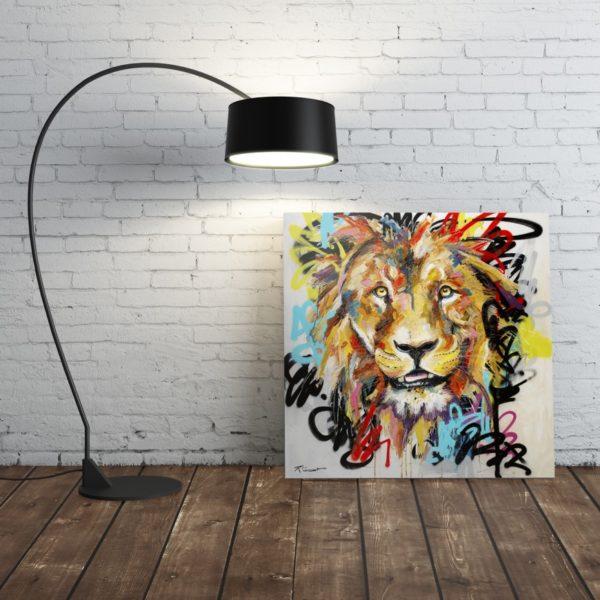 Portrait lion Jungle Art