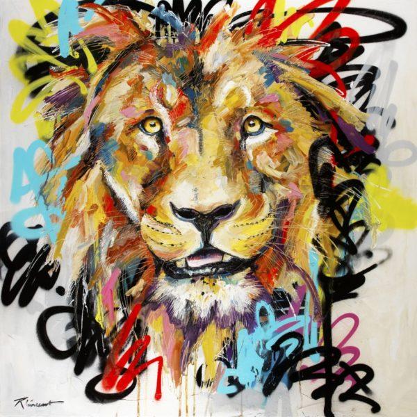 Lion Jungle Art