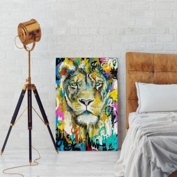 Menelas lion portrait
