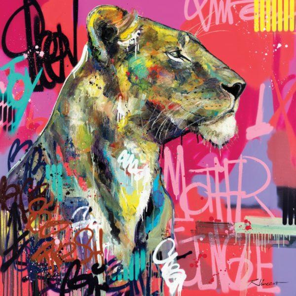 Portrait lionne Mother Jungle