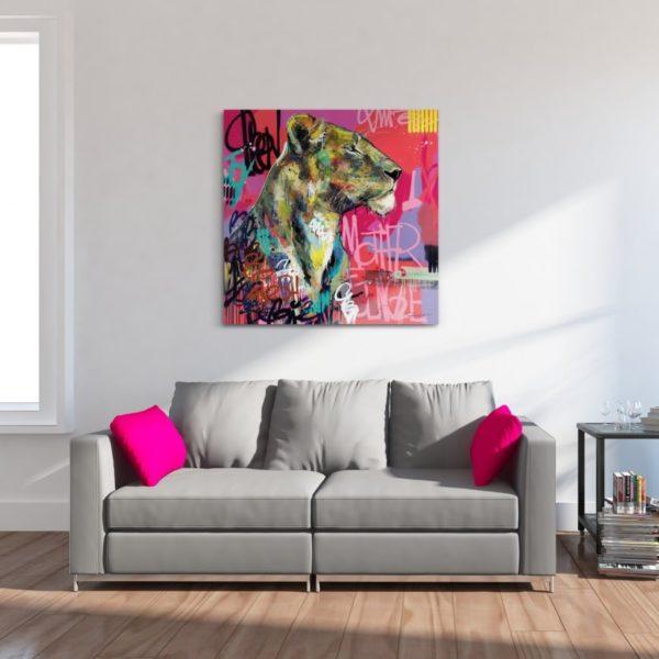 Portrait animaux - lionne vincent Richeux - mother of Jungle