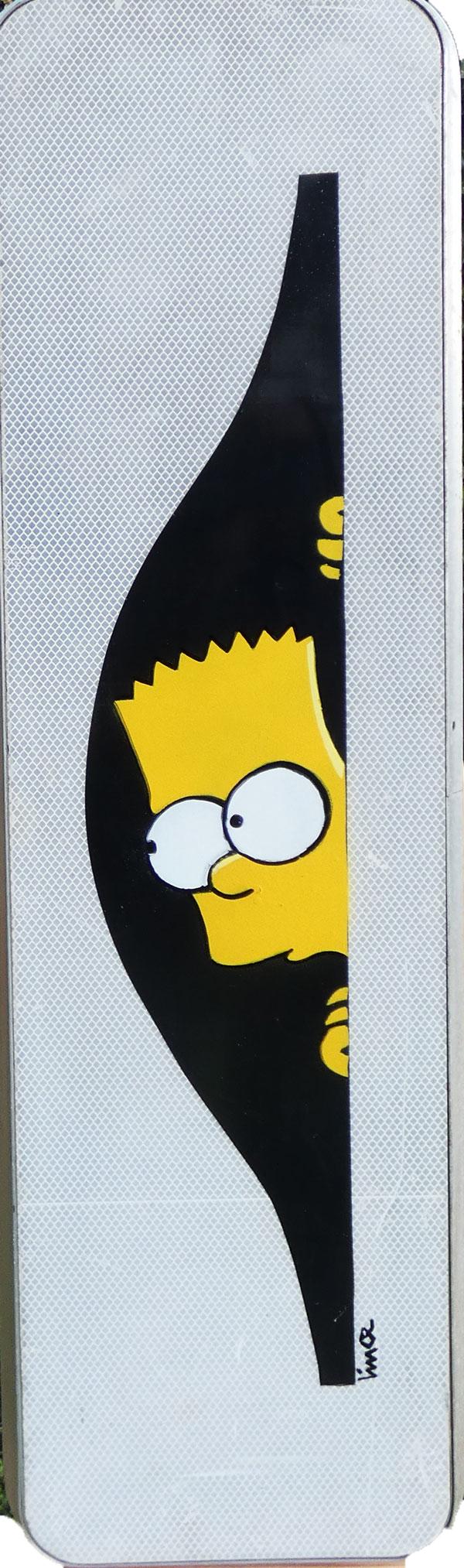 Bart simpson panneau routier