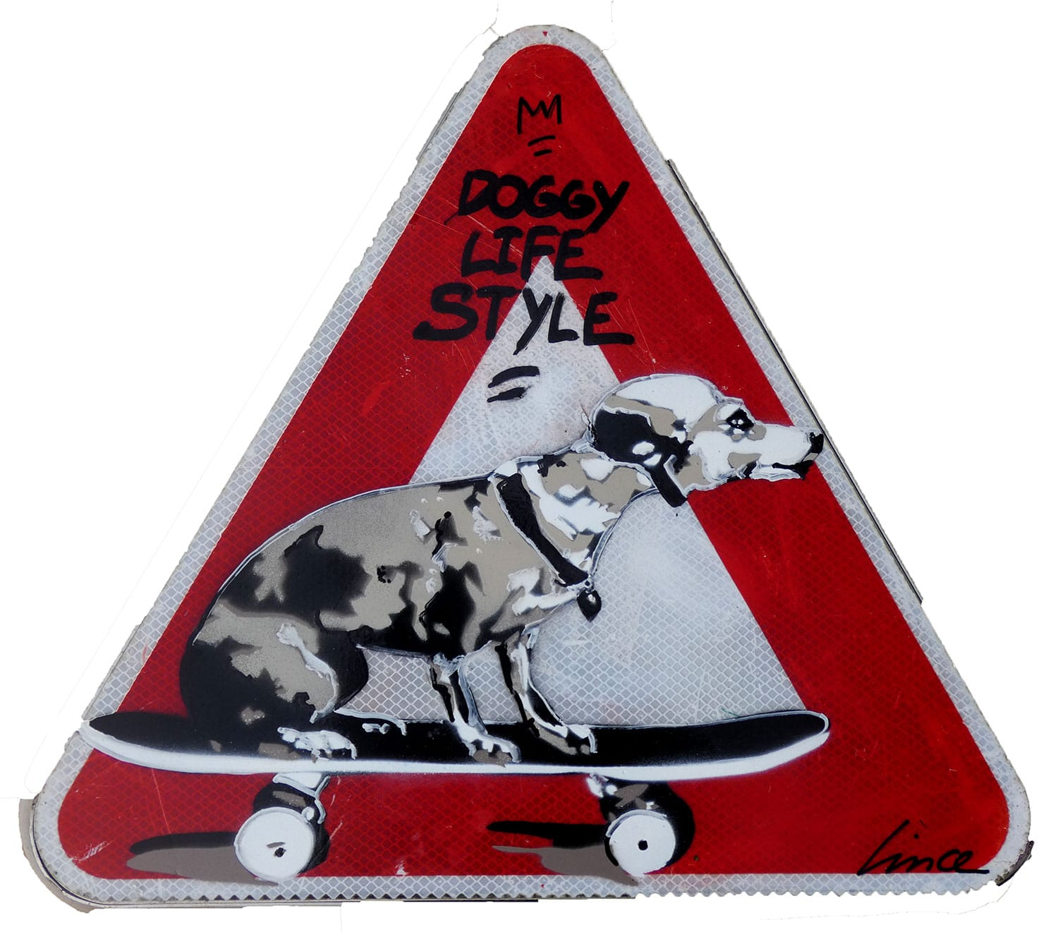 panneau routier triangle doggy